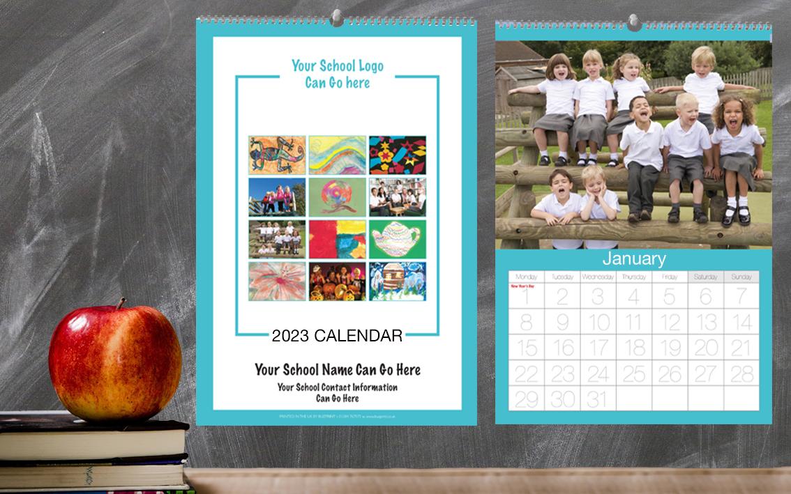 School Fundraising Calendar Design P