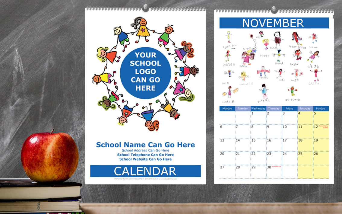 School Self Portrait Calendar