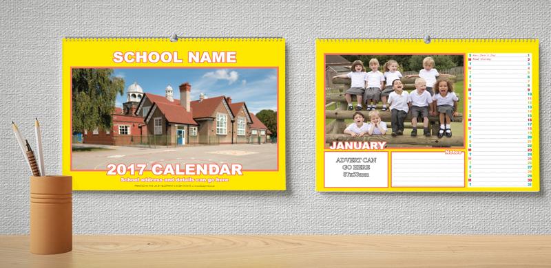 Calendar Design For School : Colourful landscape calendar design lb