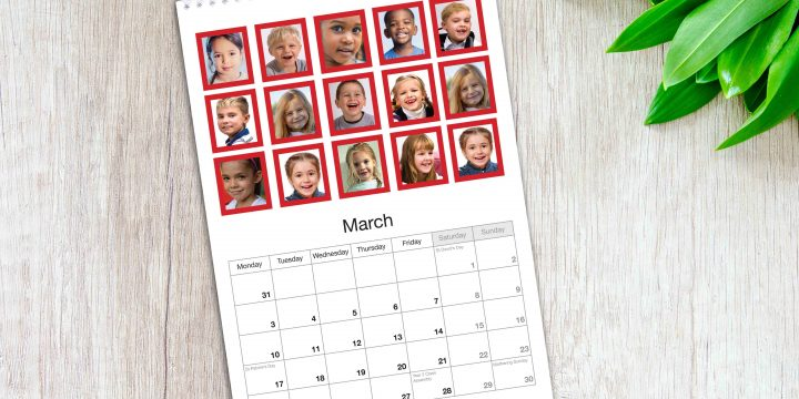 School Collage Calendar
