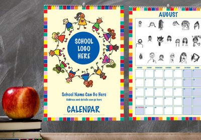 School Self Portrait Calendar